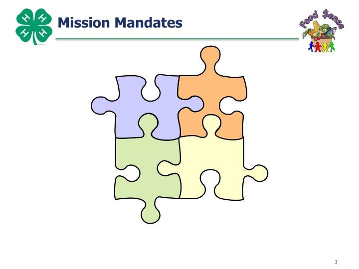 Mission Mandates