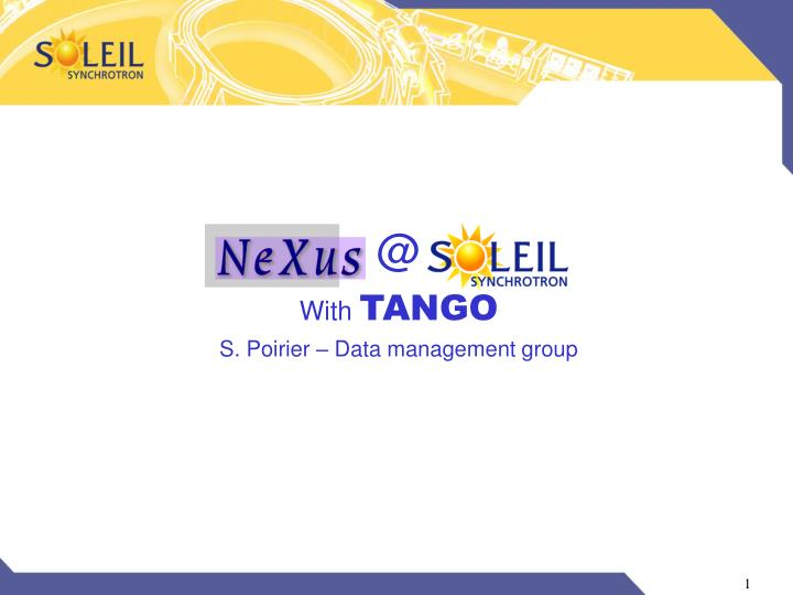 With tango s poirier data management group