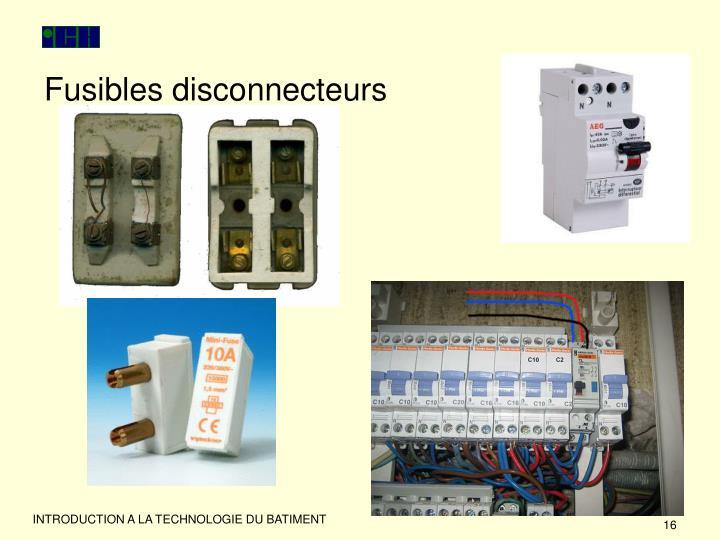 Fusibles disconnecteurs