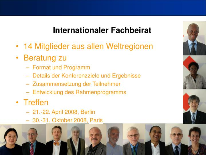 Internationaler Fachbeirat