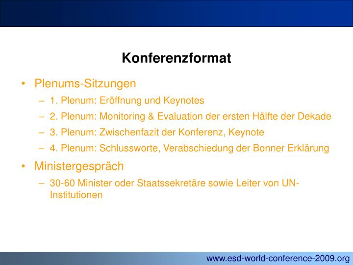 Konferenzformat