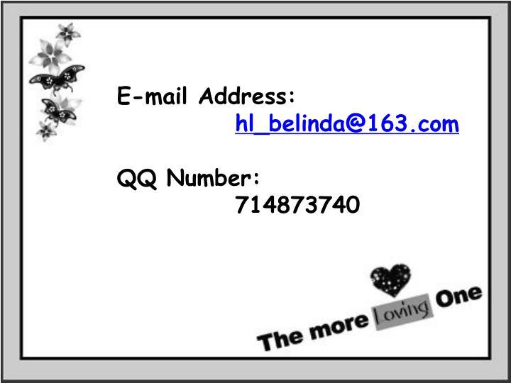 E-mail Address: