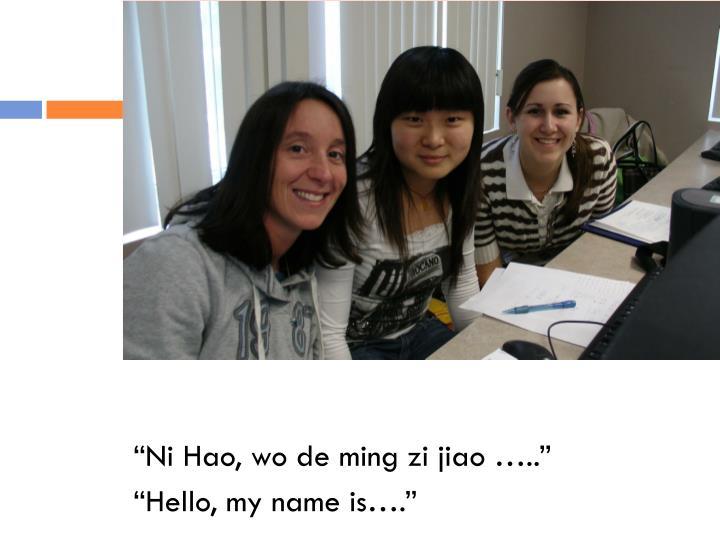 """""""Ni Hao, wo de ming zi jiao ….."""""""