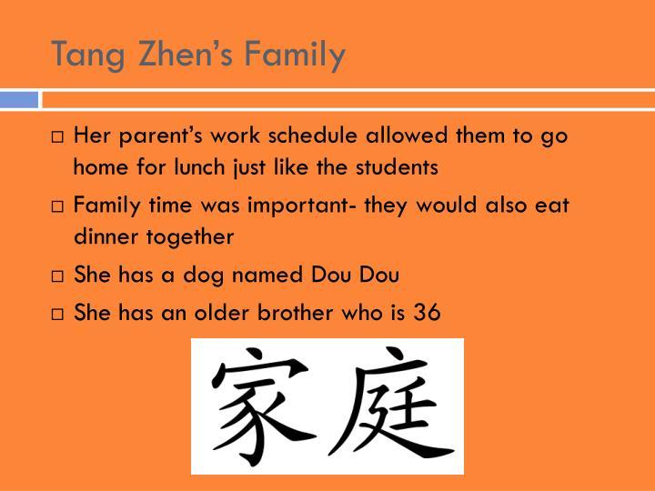 Tang Zhen's Family