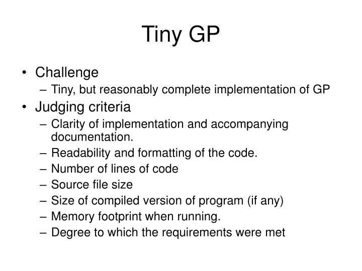 Tiny GP