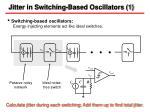jitter in switching based oscillators 1