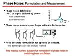phase noise formulation and measurement