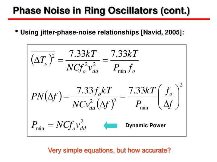 Phase Noise in Ring Oscillators (cont.)
