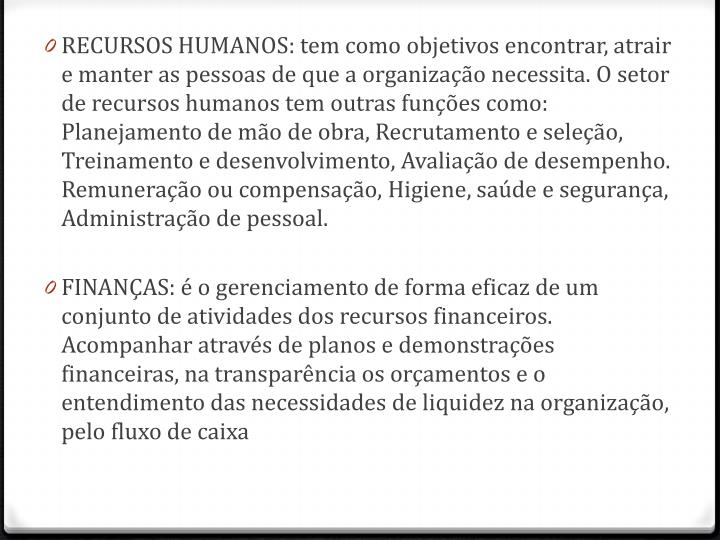 RECURSOS HUMANOS: