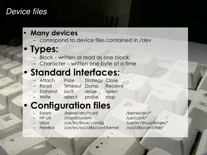 Many devices
