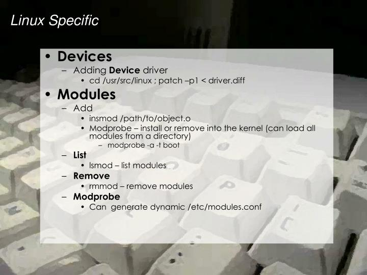 Linux Specific