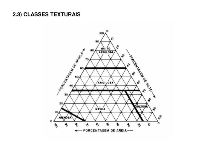 2.3) CLASSES TEXTURAIS