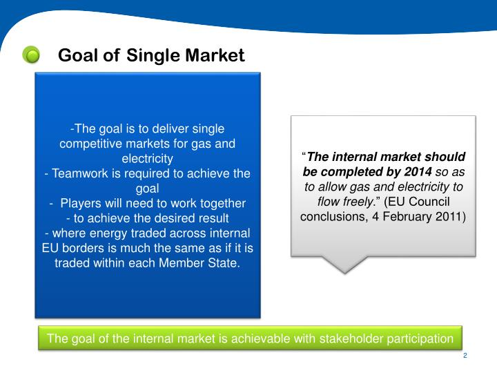 Goal of Single Market