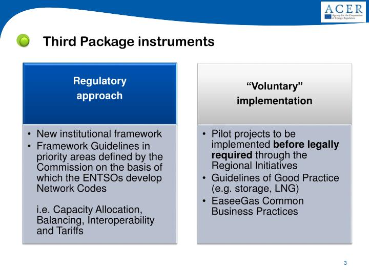 Third package instruments