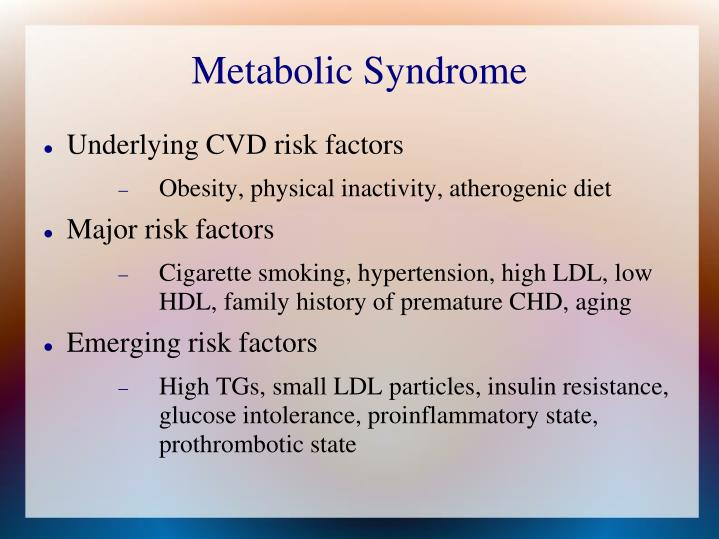 Metabolic syndrome1