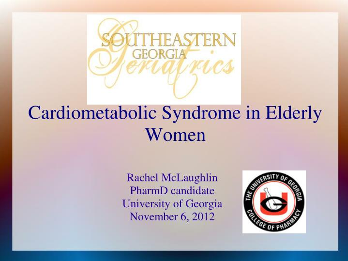 Rachel mclaughlin pharmd candidate university of georgia november 6 2012