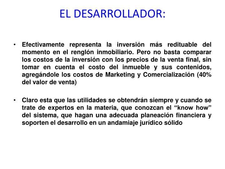 EL DESARROLLADOR: