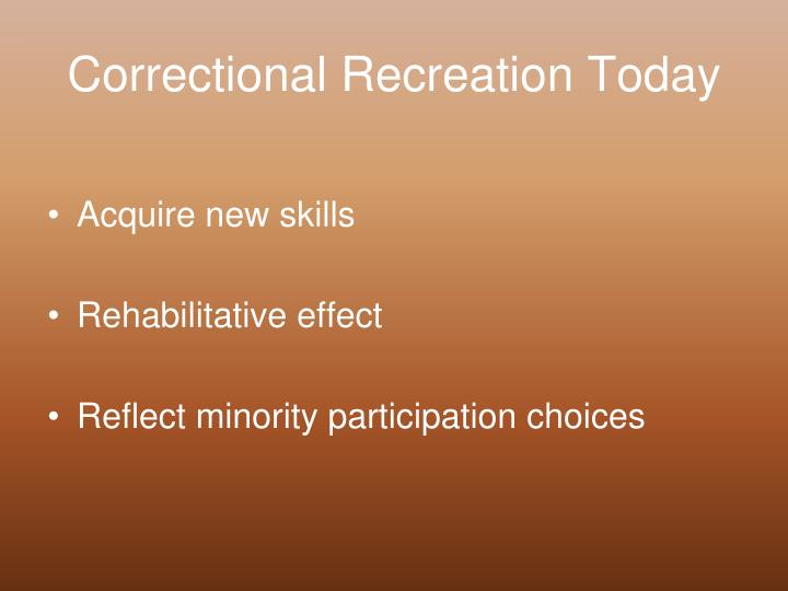 Correctional Recreation Today