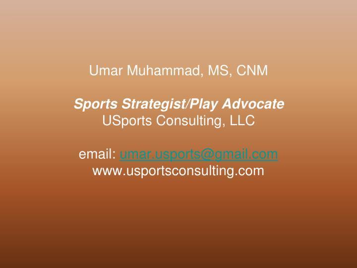 Umar Muhammad, MS, CNM
