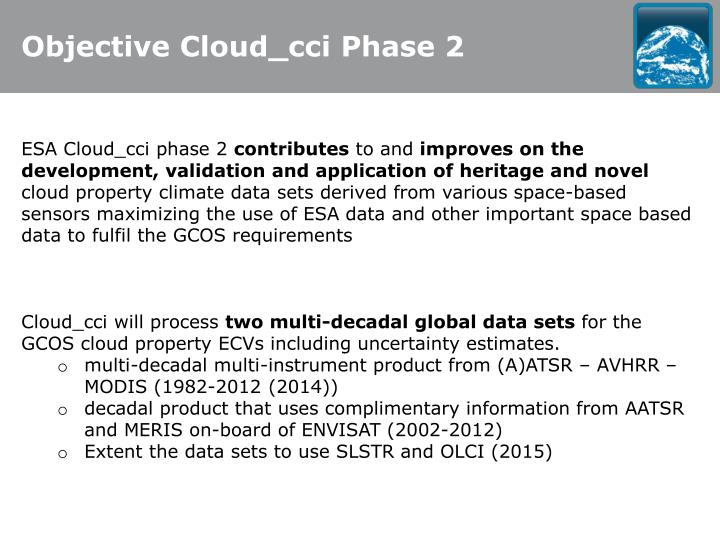 Objective Cloud_cci Phase 2