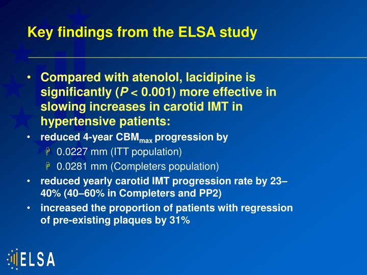 Key findings from the ELSA study