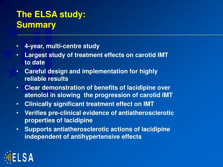 The ELSA study: