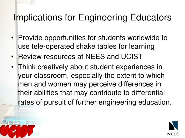 Implications for Engineering Educators