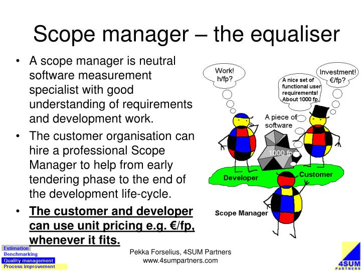 Scope manager – the equaliser