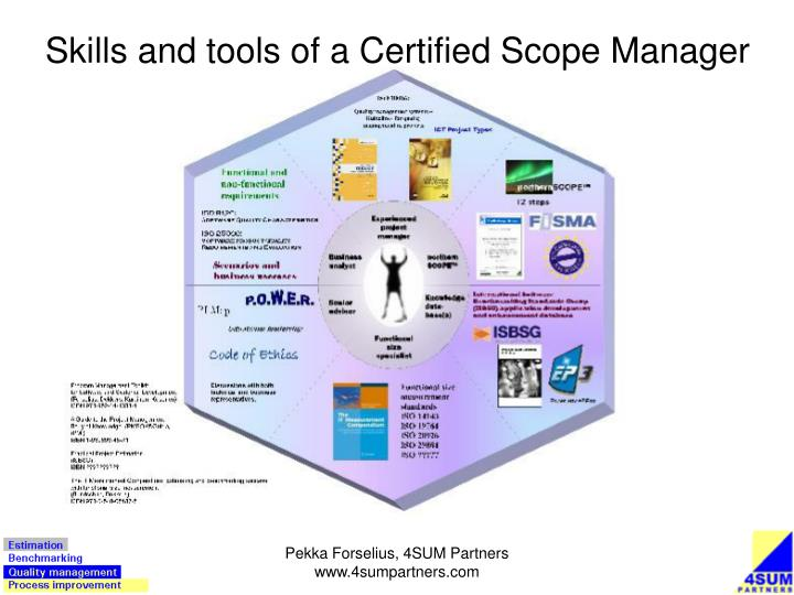 Skills and tools of a Certified Scope Manager