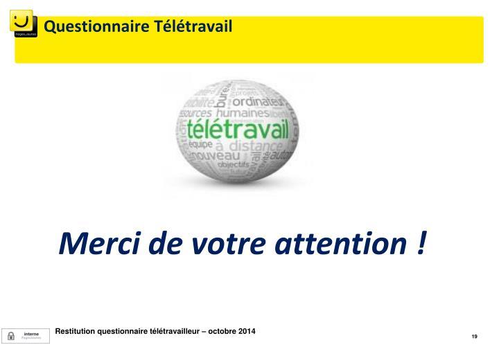 Questionnaire Télétravail