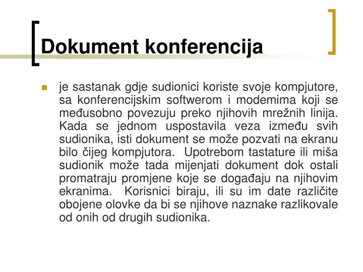 Dokument konferencija