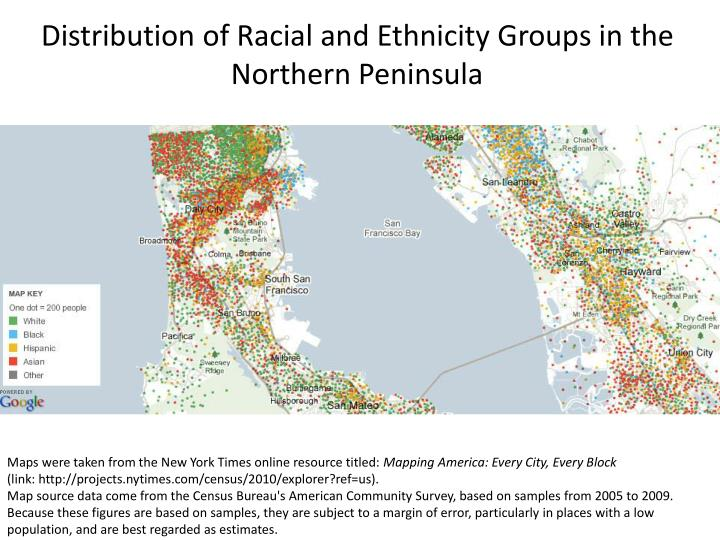 Distribution of Racial and Ethnicity Groups in the Northern Peninsula