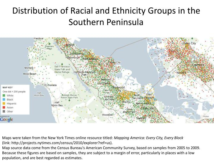 Distribution of Racial and Ethnicity Groups in the Southern Peninsula