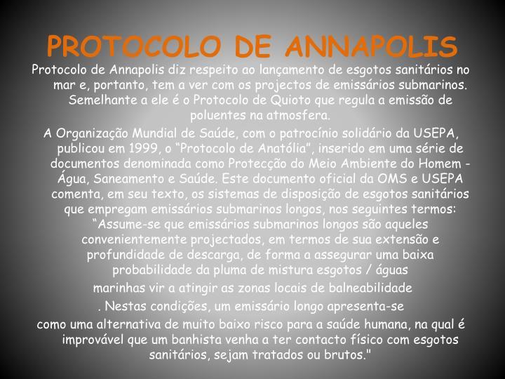 PROTOCOLO DE ANNAPOLIS
