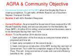 agra community objective1