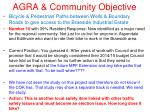 agra community objective12