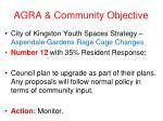 agra community objective14