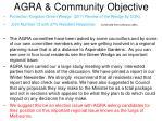 agra community objective16