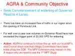 agra community objective2
