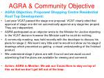 agra community objective20