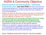 agra community objective21