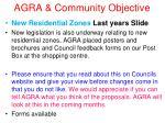 agra community objective22