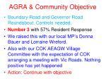agra community objective3