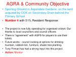 agra community objective4