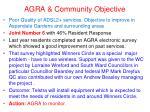agra community objective6