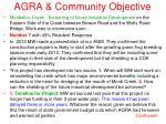agra community objective8
