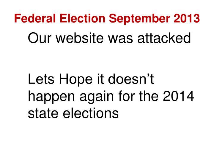 Federal Election September 2013