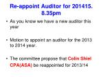 re appoint auditor for 201415 8 35pm