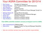 your agra committee for 2013 14