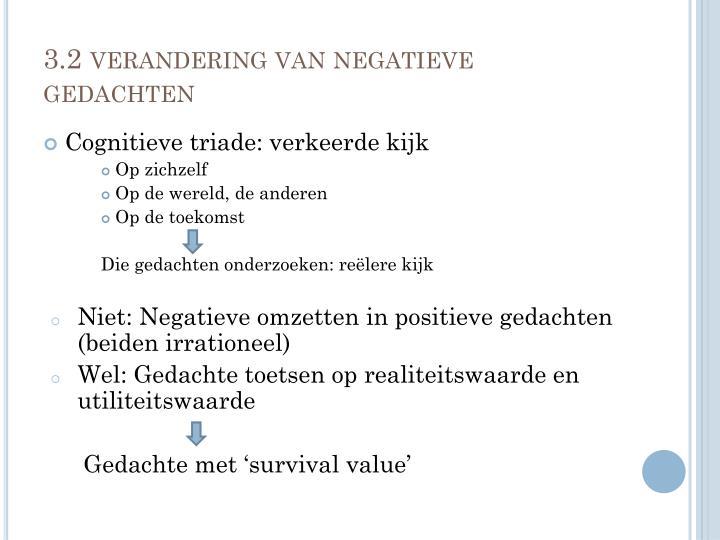 3.2 verandering van negatieve gedachten